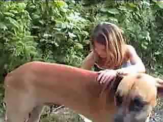 handjob for lucky big dog