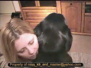 gordita con perro